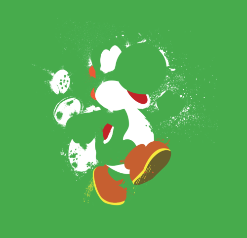 I do love Yoshi ^^ the-daily-robot:  Green Yoshi T and iPhone case available at RedBubble. More Yoshis coming soon!