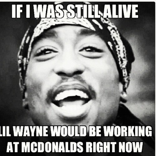They don't make rap lyricist like they used to #TupacIsAlive #2Pac #thuglife #CaliLove (Taken with Instagram)