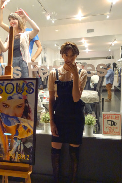 kekomaura:  Candid outside of L'ecole Des Femmes at Fashion's Night Out by Dave Tada