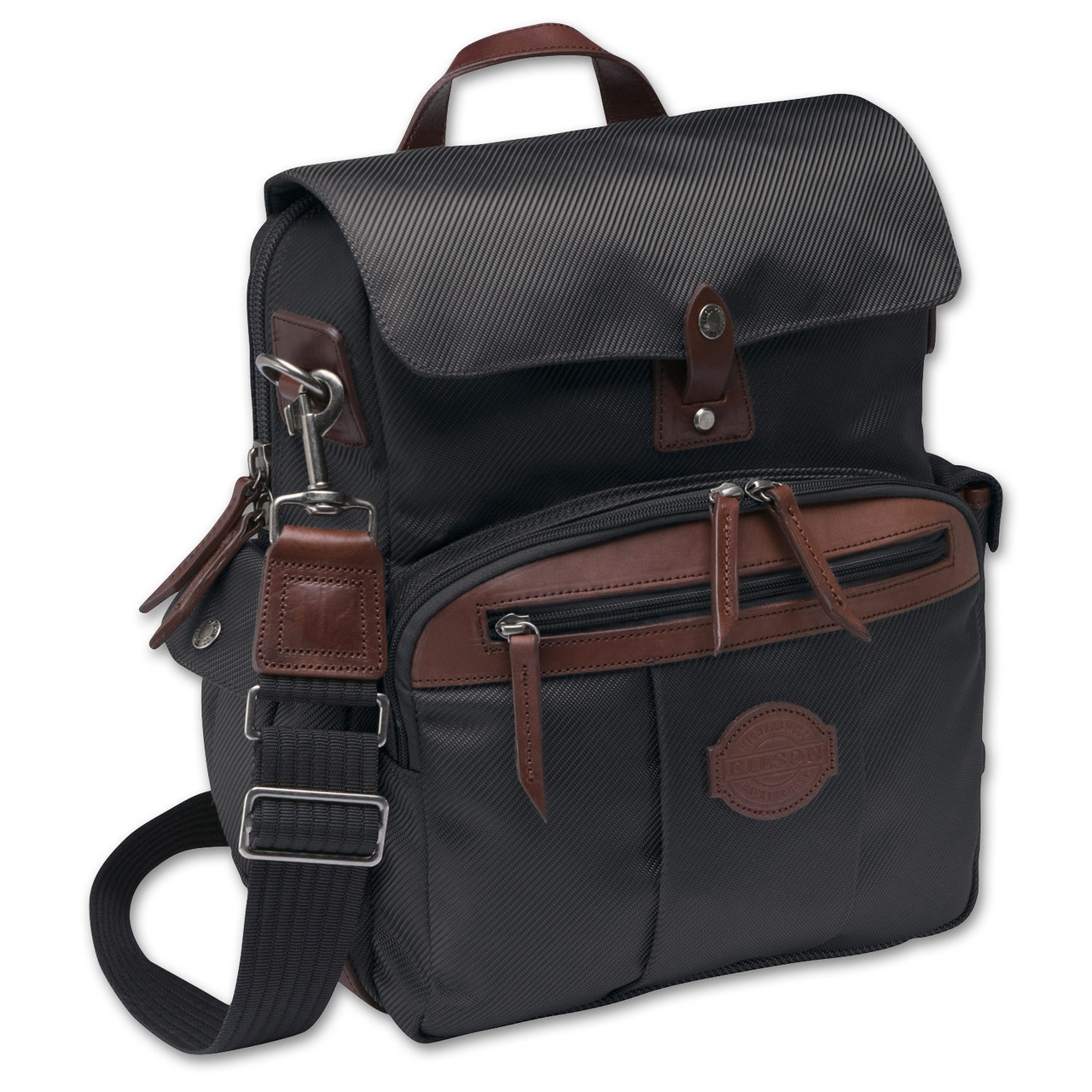 "Passage Field Briefcase A briefcase designed for work in the field or office  Style #73013  $180.00$134.99  Choose Color Color: Black  The Field Briefcase is a vertically oriented bag that features a front zippered compartment with interior organizer pockets, front zipper pocket with attached key-fob clip. Two open side pockets. Leather handles and side D-rings for padded shoulder strap. Interior padded computer pocket. Leather wrapped bottom edges. Meets carry-on requirements. Imported. Features 1 full width zipper with large snap flap tab closure. 2 end utility pockets with snap flap closures; interior organizer pockets. Side D-ring with detachable shoulder strap. Interior padded computer pocket. Special Features Interior clasp for keys, side D-ring with detachable shoulder strap. Usage Field, Travel, Business, Casual 12"" W x 15"" H x 4"" D  http://www.filson.com/products/passage-field-briefcase.73013.html?fromCat=true&fvalsProduct=luggage/field-bags&fmetaProduct=1019"