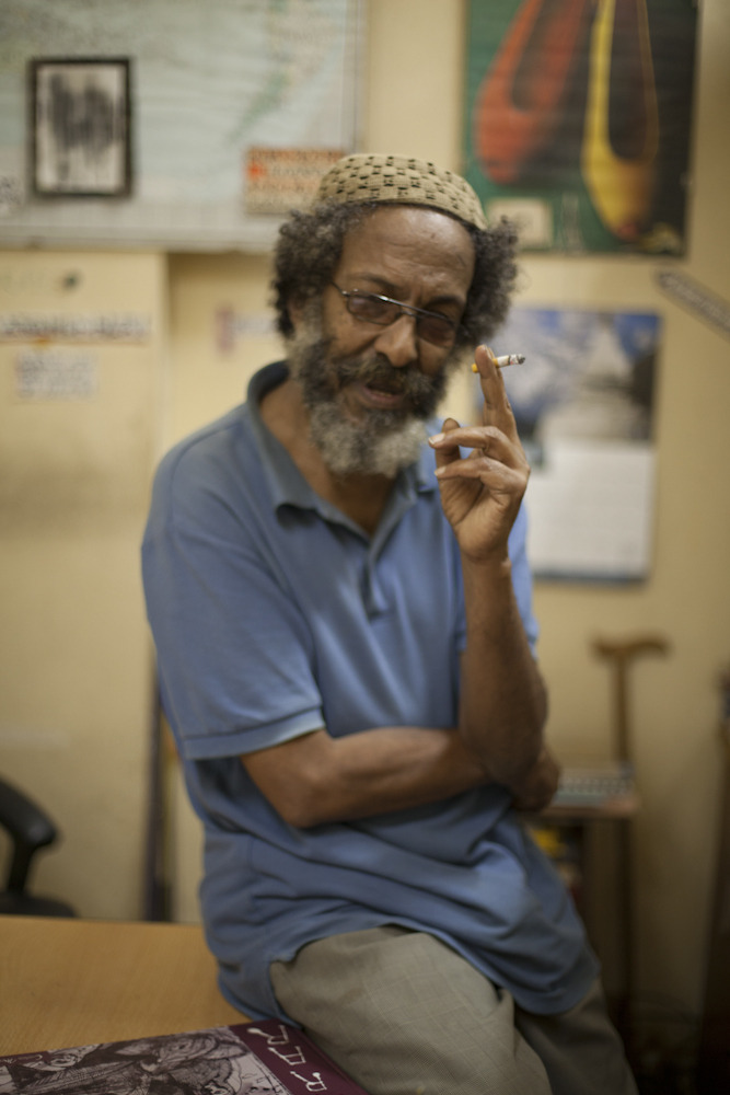 Abdulmummen Abdulnasser, in his office in Harar  © Zach Abubeker, 2012