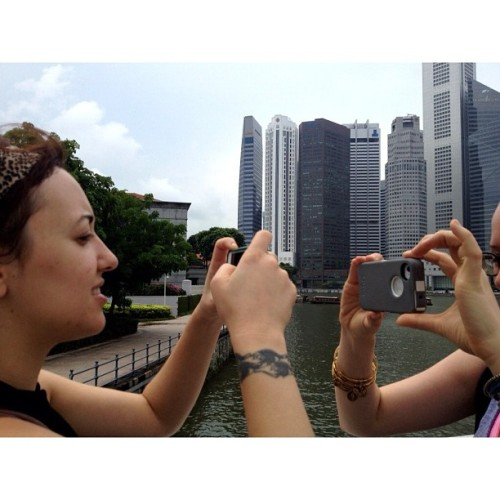 alliemoss:  Bess & Ingrid saw the sights. (Taken with Instagram at Singapore)