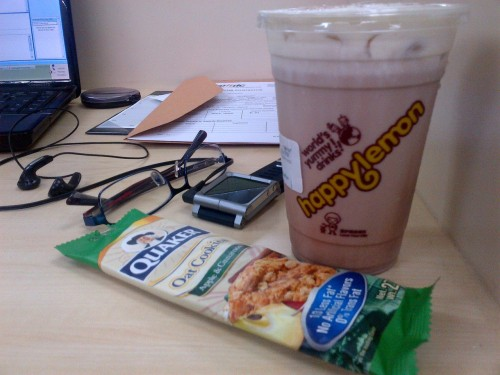 Office merienda. Good vibes! :)