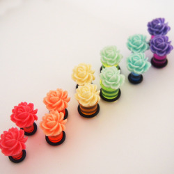 Flower Blossom Acrylic Plugs by Glamsquared Check out my facebook!