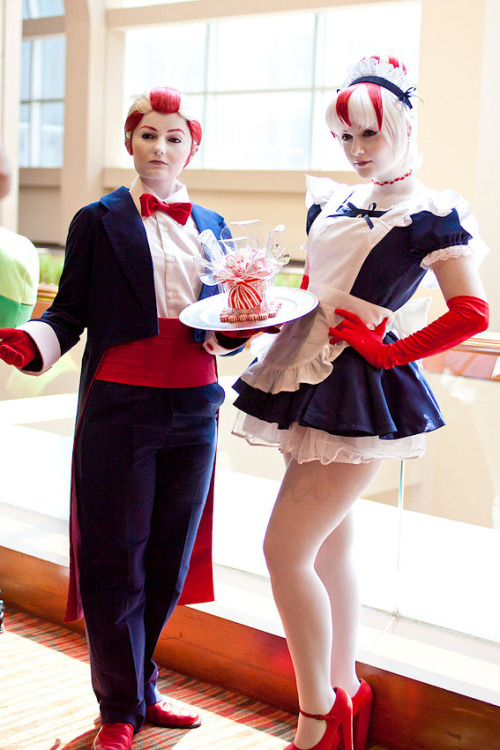 farfaduvet:  Peppermint Butler and Maid by ~Hopie-chan