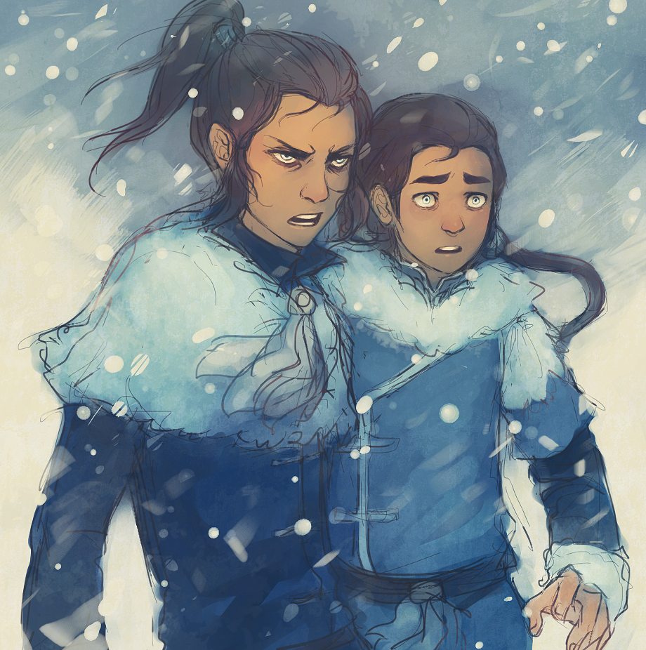 snowytown:  late night doodle/sketch of bb!bloodbending brothers |D;;;