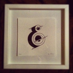 emmawatson-design:  My DIY framing job of a Jessica Hirsch print! (Taken with Instagram)