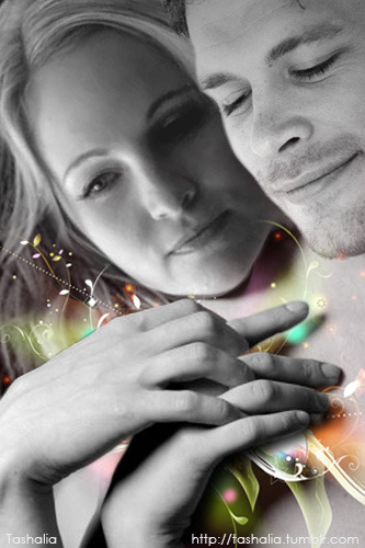 Клаус и Кэролайн. Мой ФанАрт.Klaus and Caroline. My fan art.