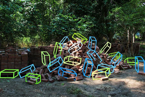 (via Geometric Tape Installations by Aakash Nihalani | Design Milk) No Photoshop here. This is just some amazing tape art.