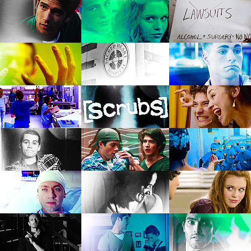 SCRUBS!scott and stiles met the first day of med school and have been inseparable ever since. so, when they're both admitted to sacred heart training hospital in beacon hills california— scott as a surgical intern and stiles as a medical intern— they're ready to take the world by storm. on his first day as a surgical intern, scott falls in love with a pretty (but insecure) medical intern named allison. she's got ambition, but she's unsure of herself.  she's a little clumsy with scott's feelings off the bat, but they enter into a relationship against the odds. making their lives difficult— at first— is senior attending physician dr. lydia martin. she's brilliant but hates every day she spends in the hospital because her healthcare politics put her in opposition with the higher ups. cynical and prone to chewing interns out and humiliating them publicly, the only match for lydia is her estranged husband, jackson whittemore, who is a hot mess of hair product, alcohol, and sass. as for stiles, he finds love with the surly head of the nursing staff: derek. at first, stiles falls over himself trying to woo derek into a sexual relationship. and, though it takes time, he eventually wears derek down, and the two begin a relationship. what stiles thought would be another short-lived affair becomes love without him realizing it. the stress of commitment and the strength of his feelings for derek put the two under strain time and time again until, eventually, they learn how to communicate through their manpain. and everyone gets their happily ever after— — even the mysterious janitor, peter, who has a small army of stuffed wolves that he keeps in his garage (but we don't talk about that). (x)