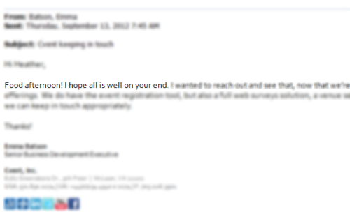 just wrote and sent this email to a client. wishing you all a food afternoon.