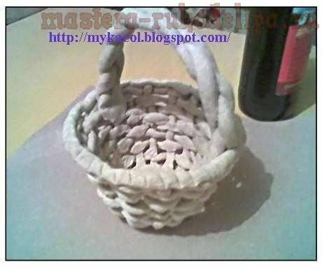 basket made from salt dough