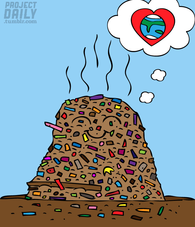 Day 562 - Trash Heap This trash heap is in love with the Earth, how contradictory. This was a request from iamloveblind NOTES: Made in Adobe Illustrator. Follow | My website | Twitter | Random Character