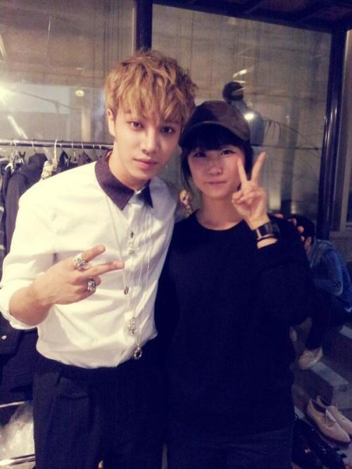 thecubeunited:  Photo: 120913 @/hannsuzy Twitter Update(with BEAST Kikwang)