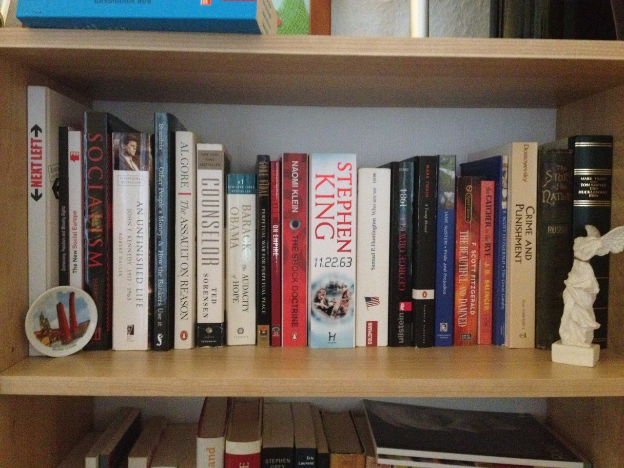 Georgi submitted to shareyourshelf:  My bookshelves are pretty diverse as far as the language is concerned :-) (Bulgarian, English, German, Russian). Here is a close-up of my still small but constantly expanding English section.  Books are a great way to master any language!