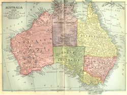 landofmaps:  Beautiful old style map of Australia.