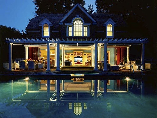 "jrsiii:  Ok, I  like it""""a LOT…But it IS a little excessive for a pool house….I bet the party's are WILD!"