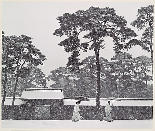 collective-history:  In the Court of the Meiji Temple, Tokyo, Japan by Werner Bischof ca. 1952 (Met Museum)