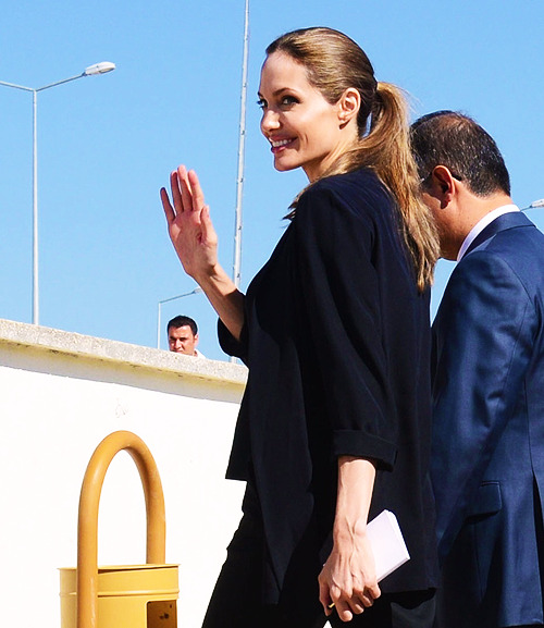Angelina Jolie meets with Syrian refugees in Turkey on Thursday, September 13th, to draw attention to the plight of the hundreds of thousands who have fled their nation's civil war.