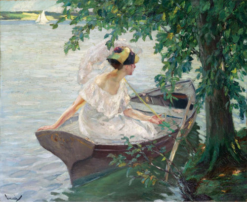 fleurdulys:  An Outing by Boat - Edward Cucuel  1917