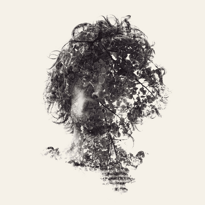actegratuit:  We are nature, multiple exposure portraits Christoffer Relander