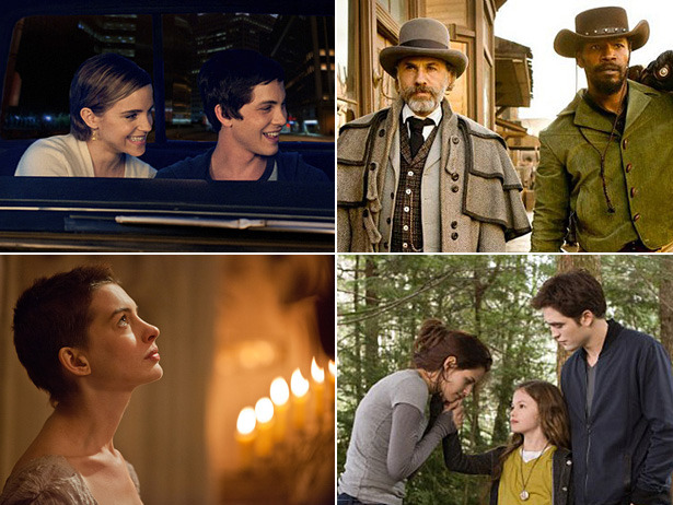Perks, Breaking Dawn, Les Miz, More: Our Top 10 Fall Movies Picks At A Glance [VH1 Celebrity]  Sure, we're leaving out a whole bunch of Oscar contenders, guilty pleasures and interesting films we'll eventually watch, but this is a list based on fandom, gut instinct and, yeah, intense crushes.