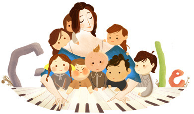 The Google page today is devoted to Clara Schumann. Music and more specifically, the piano and piano literature would not be what it is today had it not been for her and the composers around her. (via Google)