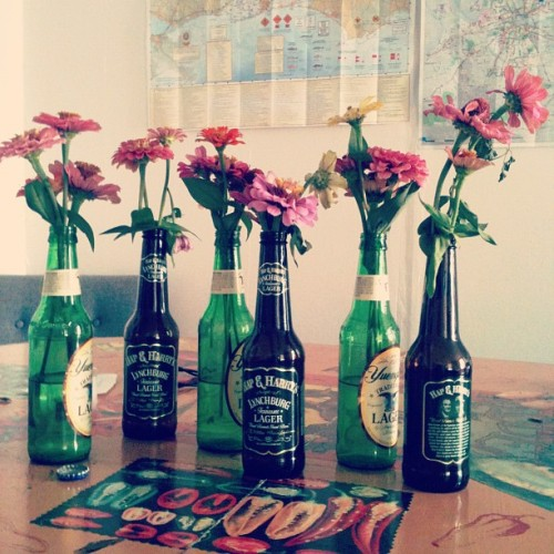 Welcome to the #HotelChicamauga, where gifts of flowers come in beer bottles. (Taken with Instagram at Hotel Chicamauga)