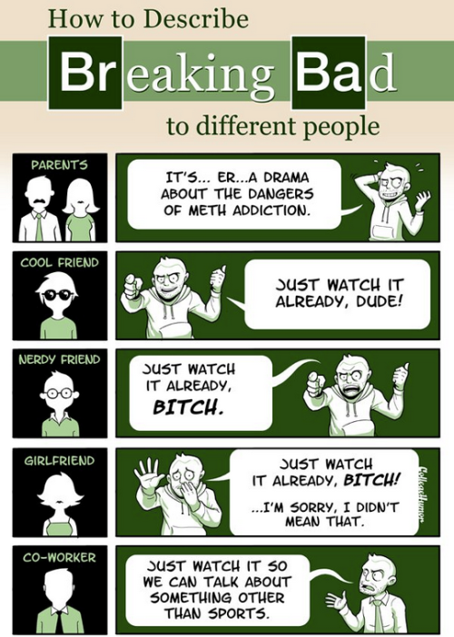 How to Explain a TV Show to Different People [Click to continue reading]