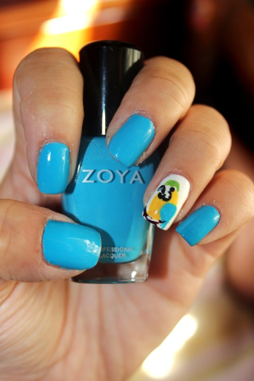 Parrot inspired using Zoya's Robyn Enjoy! :)