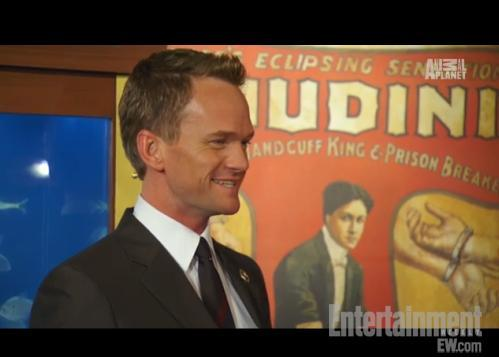 Check out that sweet Houdini poster! entertainmentweekly:  Exclusive video of Neil Patrick Harris pallin' around at the Magic Castle? Yes, please.