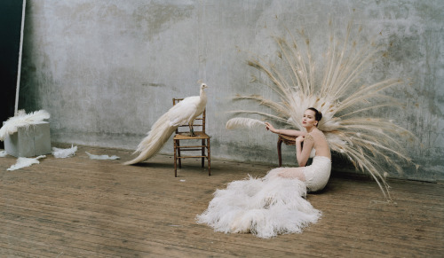 wmagazine:  Photo by Tim Walker Jennifer Lawrence is in full plumage. Swoon.