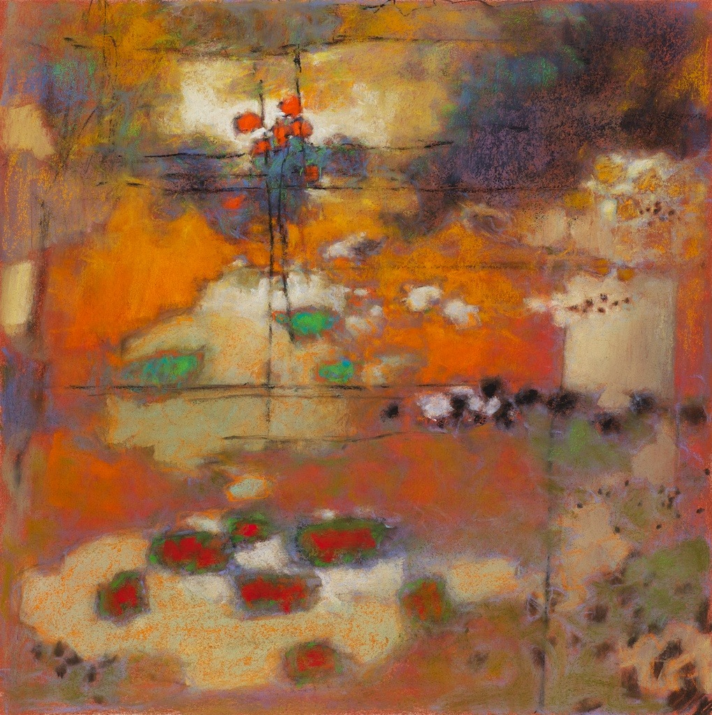 Rick Stevens 79-12 | pastel on paper | 14 x 14"