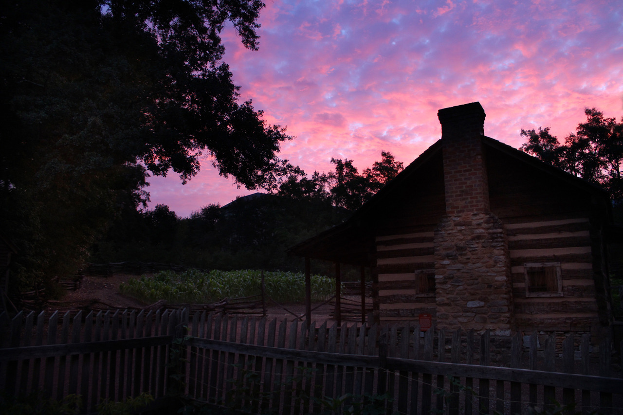 Sunrise at the AHC's 1860s Smith Family Farm