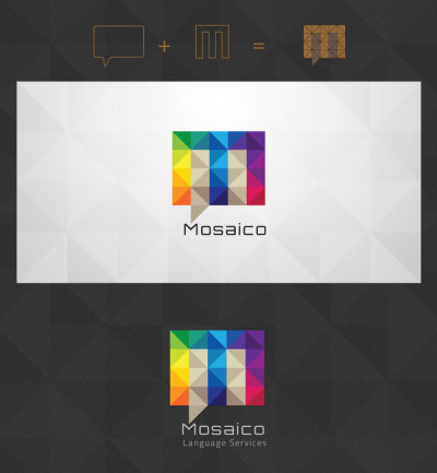 MOSAICO A nice geometric and colorful logo design here. (via Logo Design)