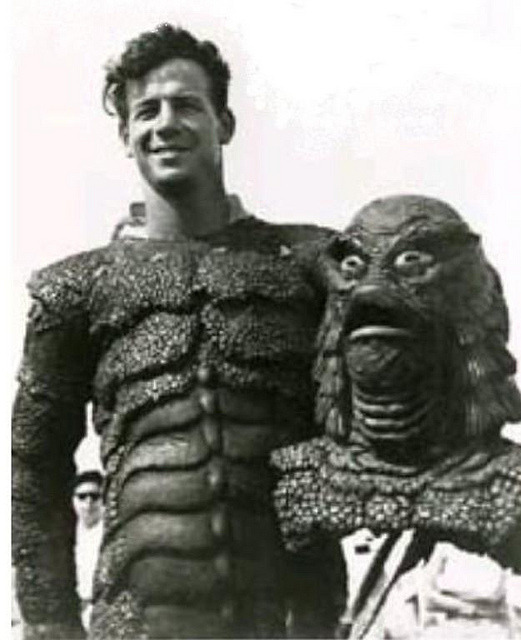 retrogasm:  The Creature from the Black Lagoon… not so scary without his head on…