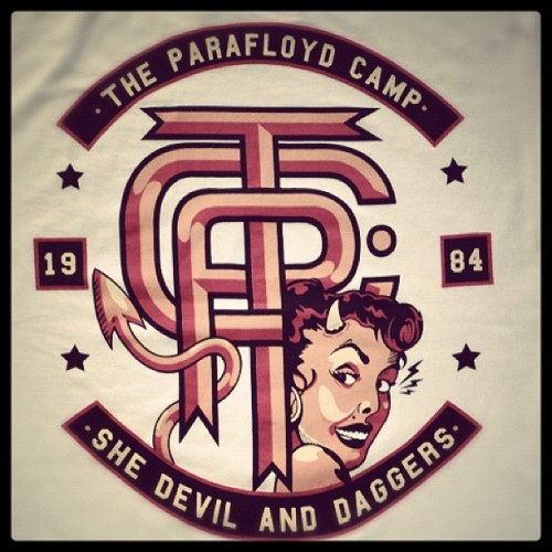 "Parafloyd Co. ""She devil and daggers"" tee. Everybody wants a bad bitch, but not one with horns.. #availableonline #theparafloydco #PAFLD #shedevilanddaggers  (Taken with Instagram at www.theparafloydco.com)"