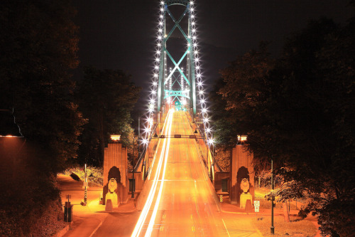 ohmyvancouver:  Lights Of The Bridge (by memories of time)