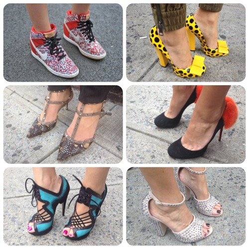 netaporter:  Studs! Stripes! Polka dots! Haute heels at #NYFW
