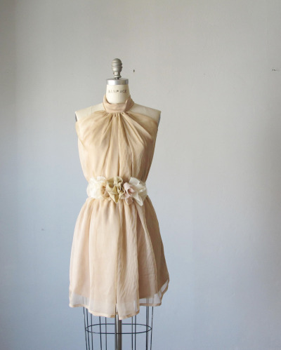 Dress Romantic Bridesmaids Wedding Dreamy Misty Pale caramel Tea Nostalgia Rosette Soft Heavenly Chiffon  https://www.etsy.com/listing/109298081/dress-romantic-bridesmaids-wedding