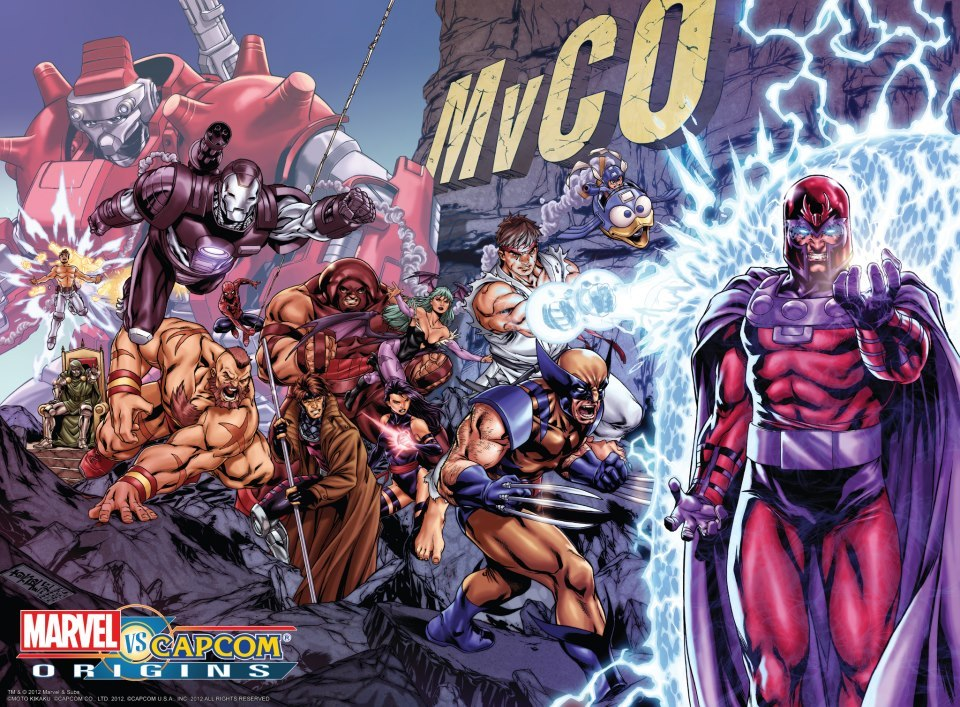 supersonicboombox:  Marvel vs Capcom Origins x Jim Lee X-Men #1 tribute by Mark Brooks