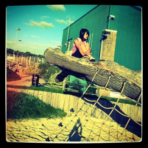 went to the park with my bro and sis :)  (Taken with Instagram)
