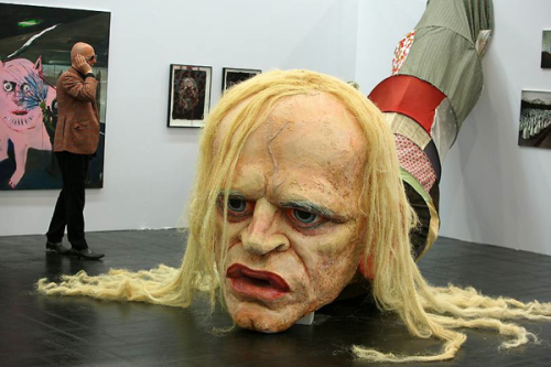 laughingsquid:  Giant Klaus Kinski Head Sculpture by Paule Hammer