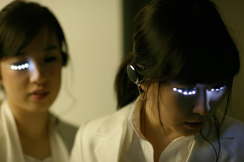 scottcuntsick:   LED Eyelashes by Soomi Park  broke bitch in the back