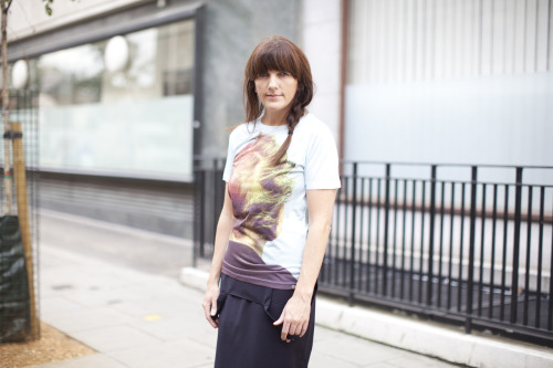 Turning heads with a simple tee shirt from J.W Anderson for Topshop.