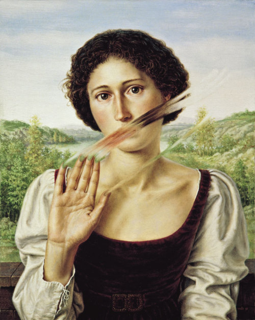 arpeggia:  Dino Valls - Tacere, 1992, egg tempera and oil on board, 43 cm x 35 cm