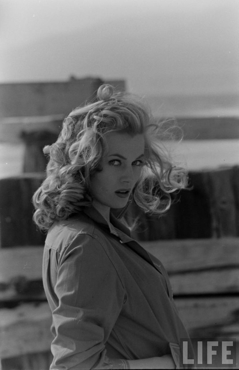 theniftyfifties:  Anita Ekberg photographed by Allan Grant for Life magazine. 1951.