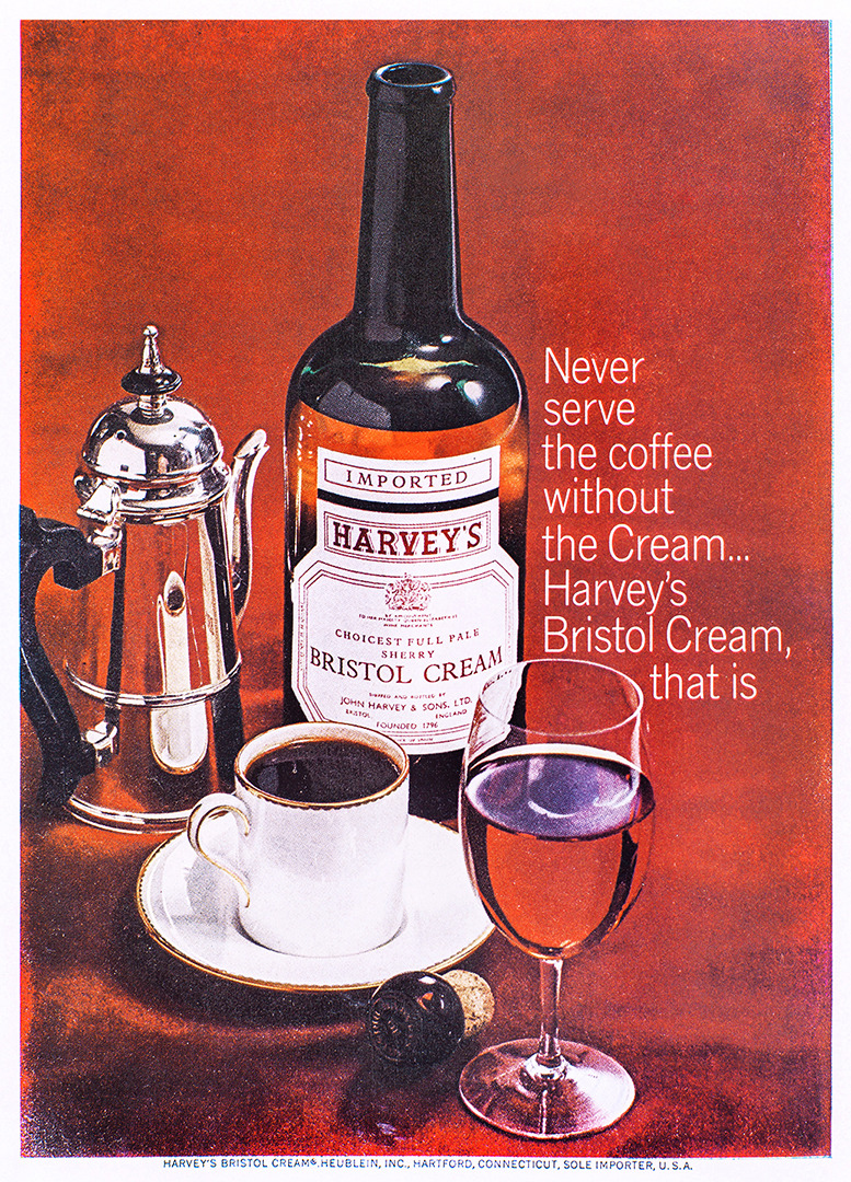 Harvey's Bristol Cream Advertisement - Gourmet: September 1965