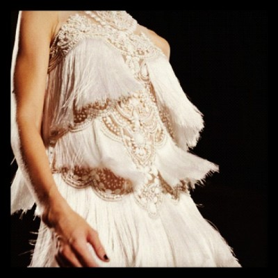 #marchesa wants u to shake a tail feather for #ss13 #fashionweek #love  (Taken with Instagram)