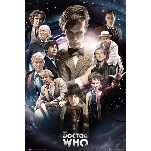 becks28nz:  Doctor Who : The Doctor's 50th Anniversary Poster 'Regenerations' (available from Forbidden Planet)